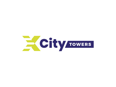XCity Towers Logo youthful dynamic bold cool real estate brand identity branding logotype logo