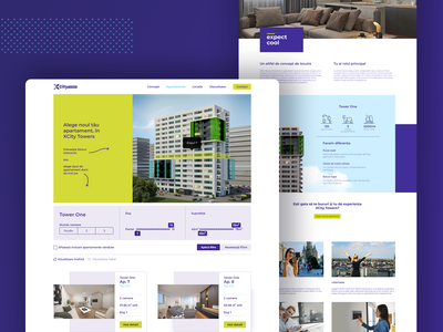 XCity Towers Website youthful dynamic cool real estate emotional design branding ui ux user interface user experience web design