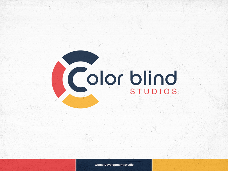 Colorblind Studios - Logo Design colorblind graphic design branding game logo game dev game development studio game development blind studios logotype logodesign logo