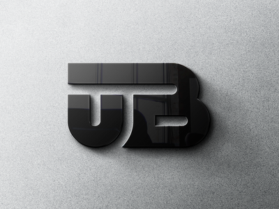 UB monogram visualidentity logo design logomark proposal logotype monogram utility 3d typography vector graphic design branding logo