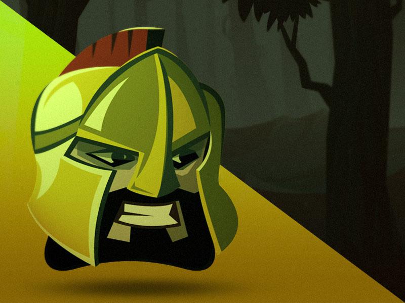 300 | Leonidas meelantche forest face ios game app helmet 300 warrior spartan leonidas character