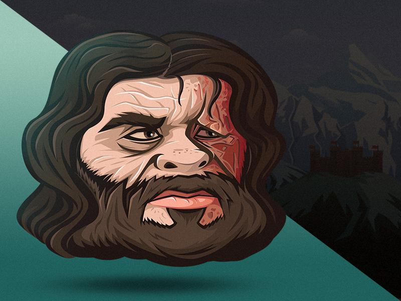 The Hound | Sandor Clegane (final work) game art meelantche detalis vector killer warrior game design face illustration game of thrones character
