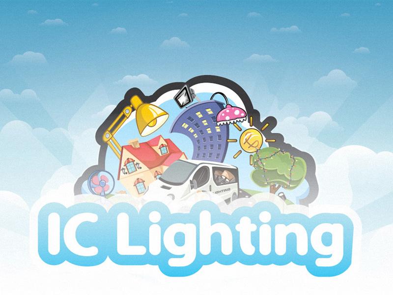 IC-Lighting illustration light magnet bulding sun tree transport sky clouds vector meelantche illustration