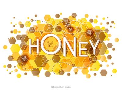 Creative illustration of Honey