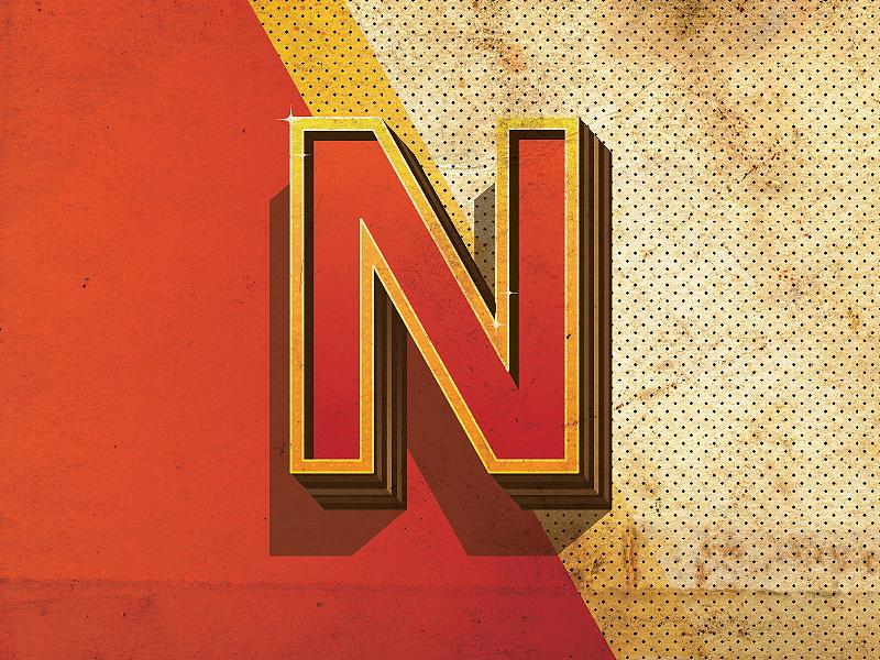 3D Alphabet Letter N concept n letter 3d font old paper concept texture vector 3d letter graphic design typography