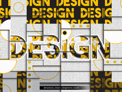 Creative Illustration of Design word