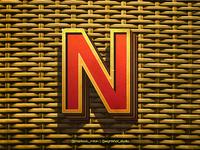 3D Alphabet Letter N concept (Updated)