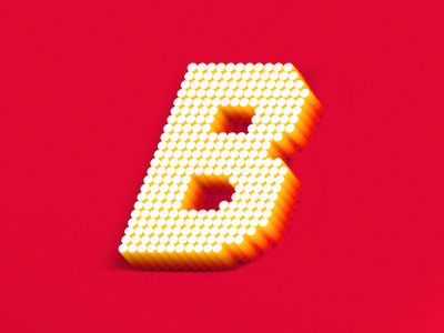 B letter for 36 days of type