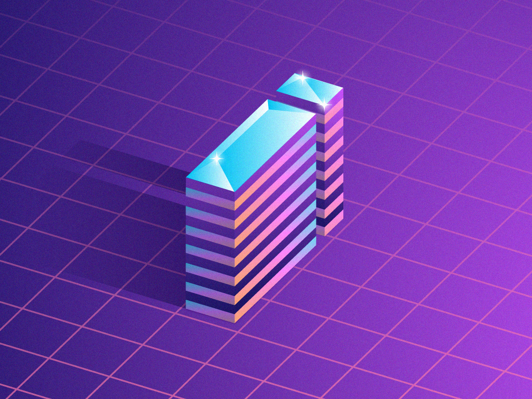 The letter i concept 36 days of type shadow purple glass shining building icon isometric design lettering letter art typogaphy design illustration