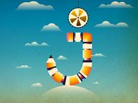 The letter J concept