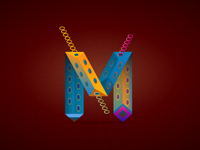 The letter M concept