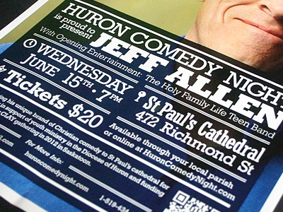 Comedy Night comedy poster church religious event qr