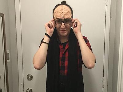 Klingon Forehead Prosthetic sculpt clay latex mask halloween klingon