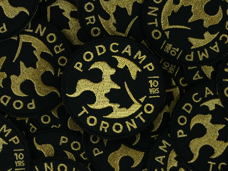 Anniversary Patch toronto podcamp embroidered patch patch