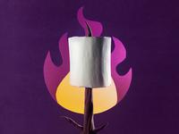Campfire Papercraft