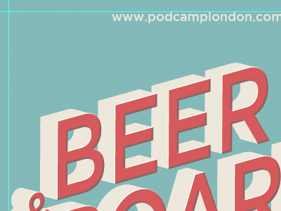 BEER podcamp conference london ontario poster overprint extrude