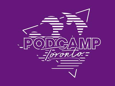 PCTO19 Shirts icon typography ontario branding vector design social media podcasting leaf logo wordpress canada podcast conference toronto podcamp
