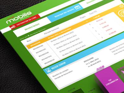 invoice tableau client panel green theme