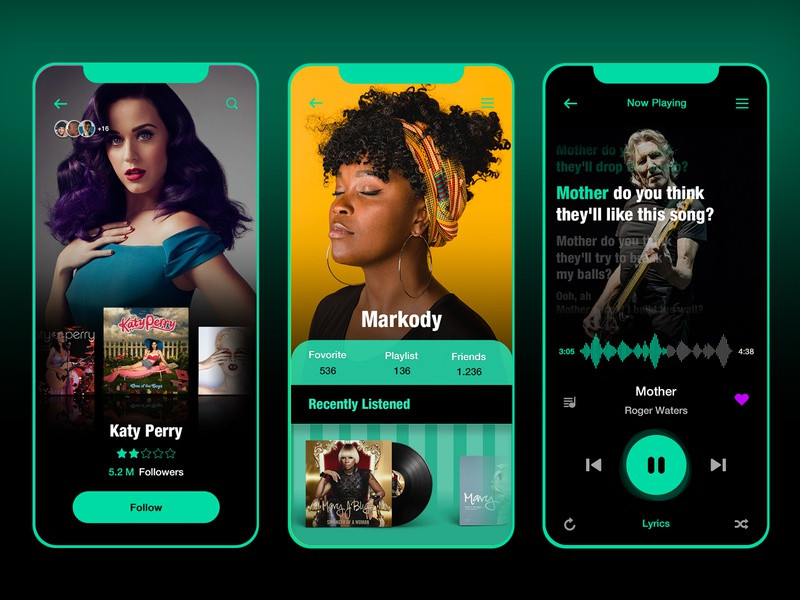 music player turquoise