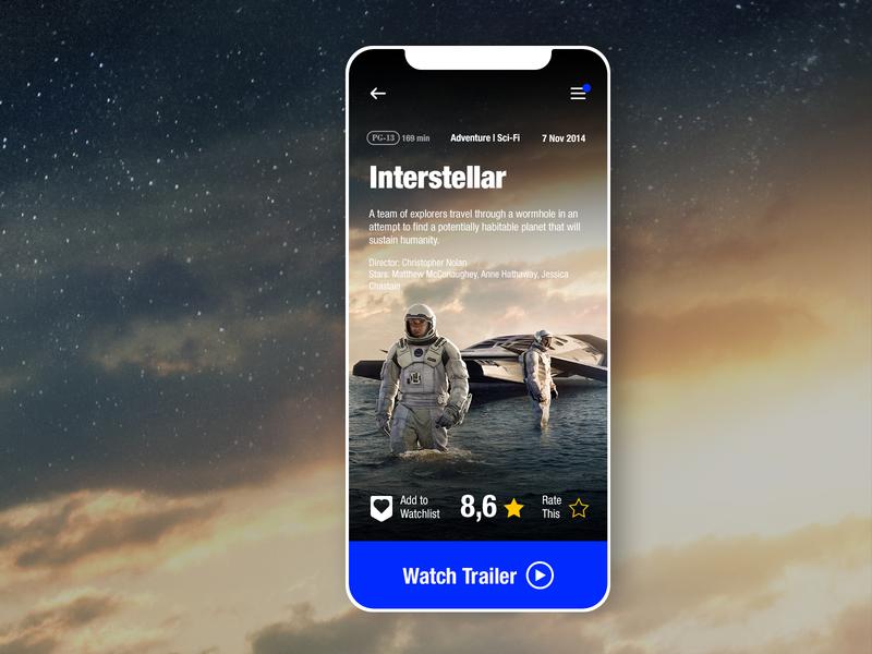 discover flat cinema app movie page