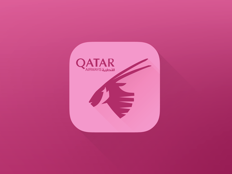 Qatarairways Flat Icon Iphone qatar airways flight app flat ui ux ios7 iphone mobile icon