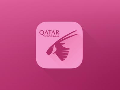 Qatarairways Flat Icon Iphone