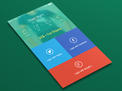 Flat Boxed Login Screen Ios 7