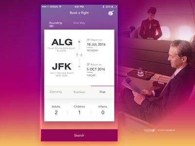 Flight Search Screen