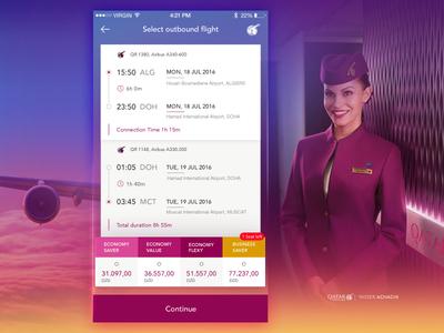 Outbound Flight Detail Qatar Airways