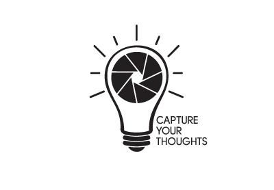 Capture Your Thoughts logo piotrek chuchla lightbulb apreture photography logotype