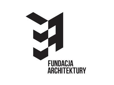 Fundacja Architektury logo black white architecture foundation modernism geometry isometric piotrek chuchla