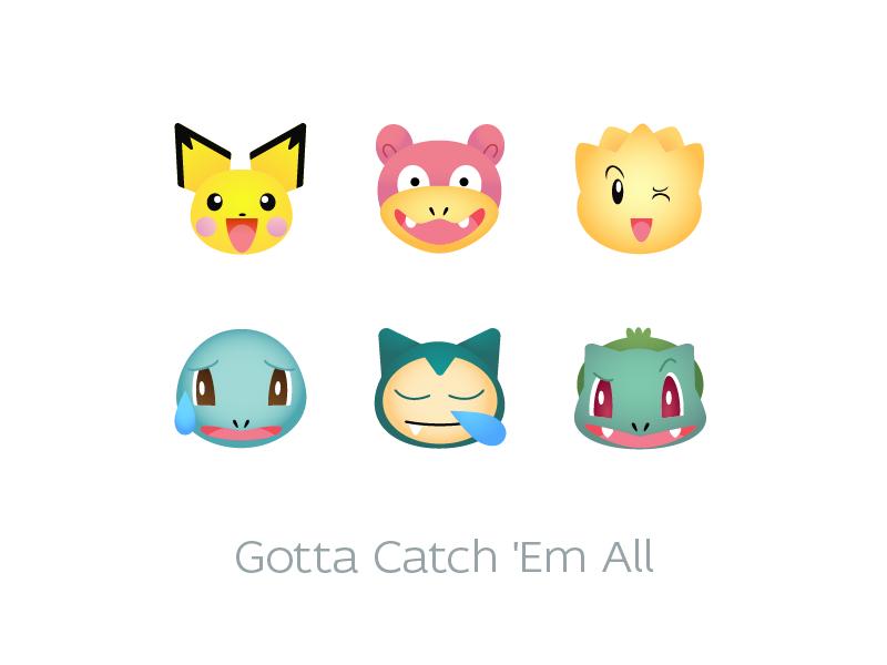 Pokemon Go Emoji Set by Eugene Tretyak on Dribbble