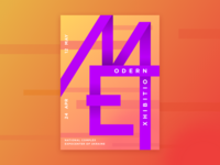 Modern Exhibition Poster