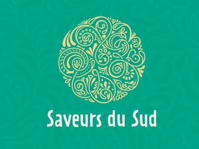 Logo Saveurs du sud dates packaging arabes pattern brand logo