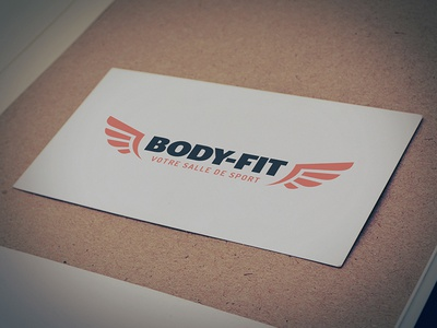 Body-fit typography brand illustration flat fitness bodybuilder gym logo
