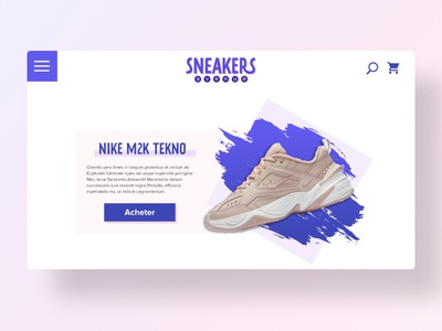 Sneakers avenue ui weekend xd flat design webdesign nike sneakers homepage