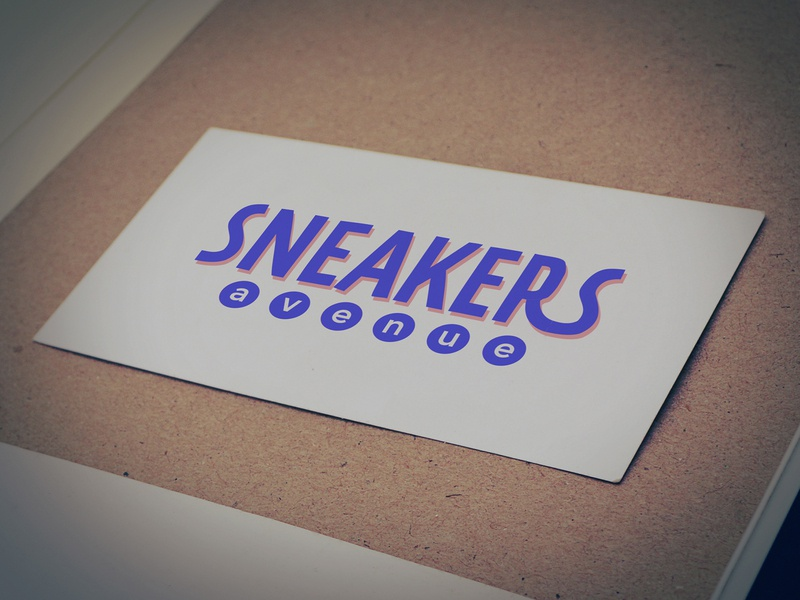 Sneakers avenue logo DR#1 typography ui flat branding vector challange weekly avenue sneakers design brand logo