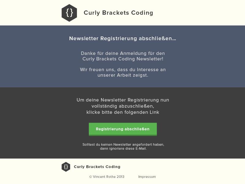 e259b7369d4 Newsletter Registration Design by Vincent R.
