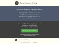 Newsletter Registration Design