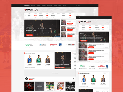 Juventuslyga.lt - basketball league web design minimal basketball designs website web ux ui design