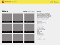 Wireframe for new fromdavy.com site