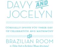 Davy and Jocelyn Wedding Invite