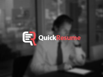 QuickResume Logo Design speech bubble resume cv logo design search job freelance work paper form