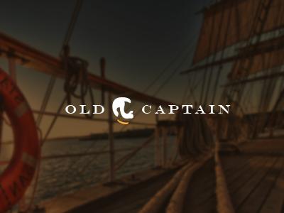 Oldcaptain Logo Design beard old captain ship face head sea yacht boat logo design