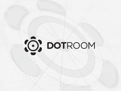 Dotroom Logo Design room conference meeting presentation space logo design round table social discussion flower
