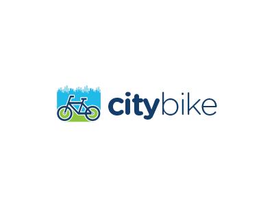 Citybike Logo Design city skyscraper cycle rental bicycle skyline house town bike logo design