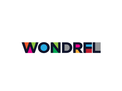 Wondrfl Logo Design colorful word logo design logotype typography identity branding typeface font lettering abstract