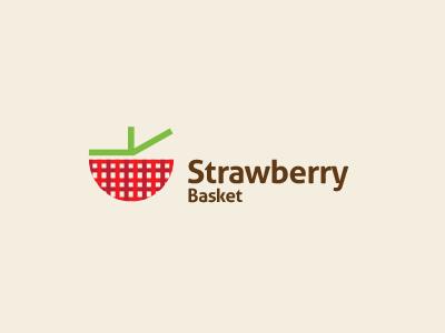 Strawberry Logo Design fruit basket fresh food vector logo design berry delicious tasty picnic