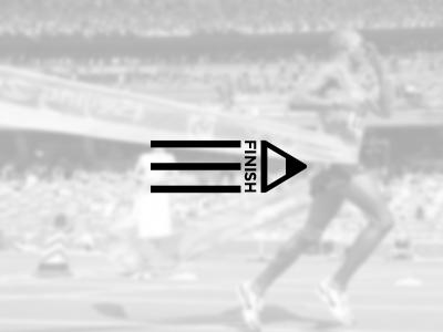 Finish Logo Design finish logo design marathon run pencil fast identity branding inspiration pen