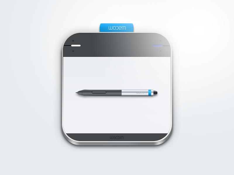 Wacom Intuos iOS Icon wacom intuos tablet pen gadget icon button ios app mouse